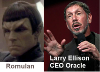 Larry Ellison is a Romulan!